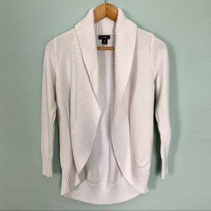 Eddie Bauer White Cardigan Sweater